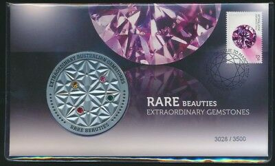 Australia 2017 Medallion Rare Beauties Extraordinary Gemstones PNC Ltd Release