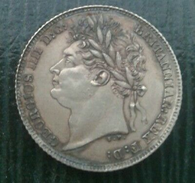 High Grade 1825 George Iv Silver Sixpence