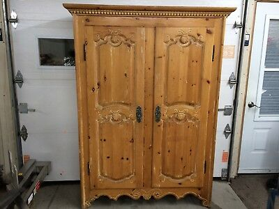 Antique or vintage solid pine armoire - Very nice