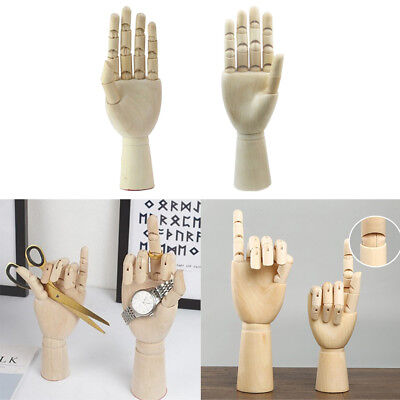1 Pair 18cm Wooden Mannequin Hand Jewelry Stand Watch Rack Photography Props