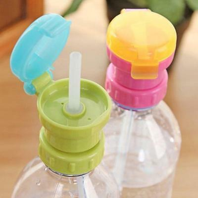 Baby Straw Lid Portable Converts to Bottle Snap Cap Kids Infant Spill-proof GR