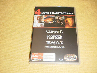 CLEANER lakeview terrace SWAT freedomland = 4 DVD NEW & SEALED action s.w.a.t R4