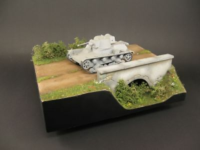 Diorama base with culvert, 1:35,  built and painted