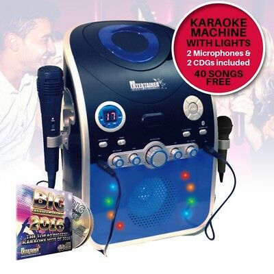 Mr Entertainer CD CDG Party Karaoke Machine with Bluetooth & Flashing DEL Lights