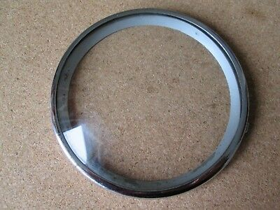 A Small Chrome Mantel Clock Chrome Bezel With A Convex Glass Pin On Type