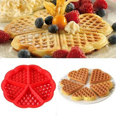 Kitchen Silicone Mini Round Waffles Pan Cake Baking Mould Mold Waffle Tray UK