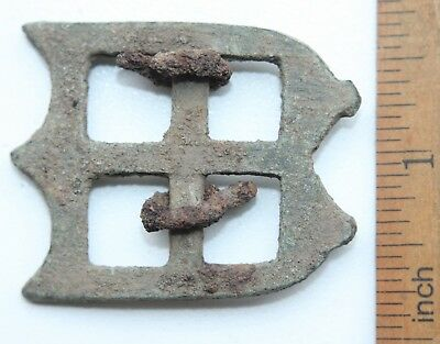 Ancient Old Bronze Ornament Decorated Buckle (NOW)