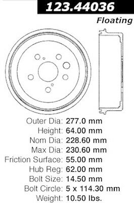 Centric Parts 123.44036 Rear Brake Drum