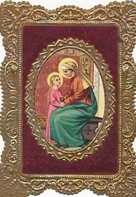 Nr.23505 Spitzen Andachtsbild holy card Litho Mutter Gottes