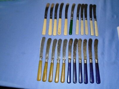 Job Lot Vintage Cutlery 22 Silver Plated Etc Butter Knives Inc Sets