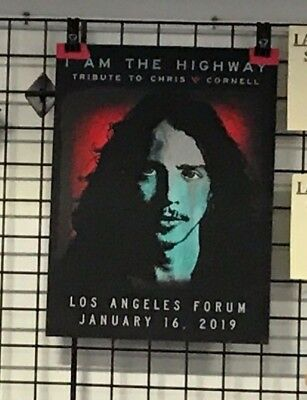 Chris Cornell I Am The Highway Le400 Screen Print Poster Metallica Foo Fighters
