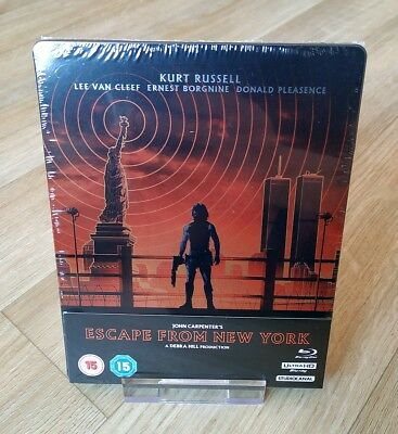 Escape From New York Steelbook Zavvi Exclusive 4K + Blu-ray New Sealed OOP/OOS