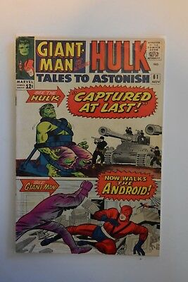 Tales To Astonish 61 Incredible Hulk Marvel Comic Book Giant Man Vintage
