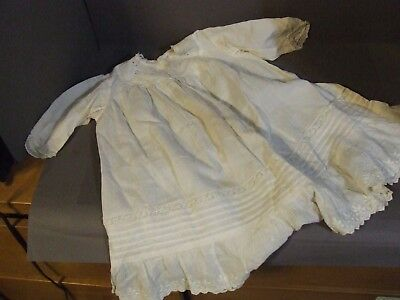 Antique Vintage Handmade Childs Christening Sleeping Gown Eyelet  Lace