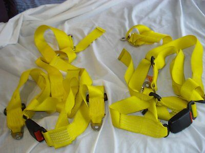 Pair of 3 point seat belt harnesses