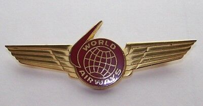 1970's WORLD AIRWAYS 2nd Officer Wing, 2nd Issue (Nice Condition!)