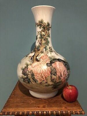 Extremely Fine Chinese Late Qing/Republic Porcelain Vase With Feng Menglong Poem
