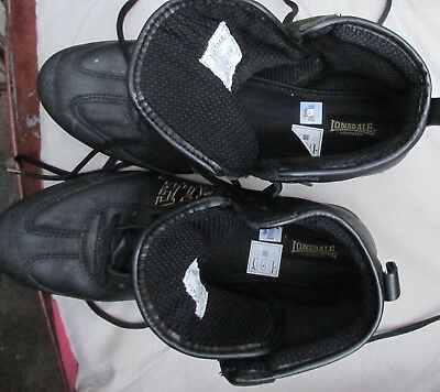 """Pair """"Lonsdale"""" Leather Boxing Boots Size UK8"""