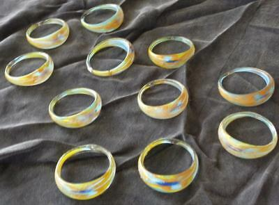 Vintage Hand Crafted Glass Napkin Rings - Set of 11 - FABULOUS COLLECTIBLE SET