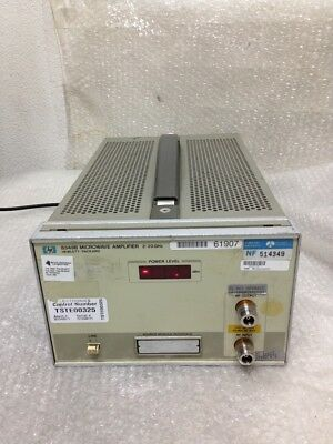 HP Agilent Keysight 8349B Microwave Amplifier Opt 002, 2 to 20 GHz