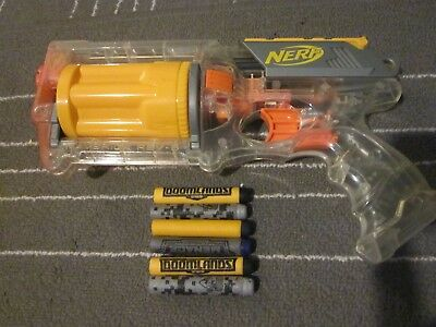 LOT NERF N-Strike ZOMBIE Sonic Clear & Yellow Maverick rev 6 w New Zombie AMMO