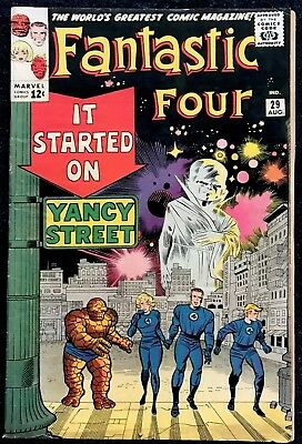 Fantastic Four #29 VG Silver Age! All Listings Start @ 0.99 Cents!