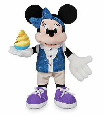 "Disney Parks 2019 Minnie Mouse 15"" Plush Toy Doll Walt Disney World NEW with Tag"