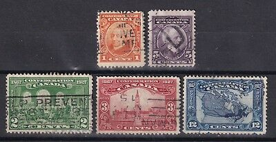 Canada 1927 set of 5 S.G. 266/70 used
