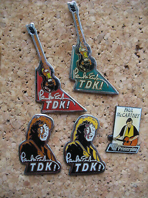 Musik Pin  PAUL MCCARDNEY  Beatles TDK Gitarren  5st