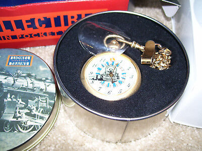 Lionel Trains pocket watch collectible 1998 w/box+tin+certificate