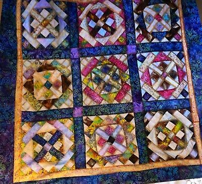 **new** ~ Batik~ Mystery Of The Substitute Teacher ~ Marti Michell   ~ Quilt Top