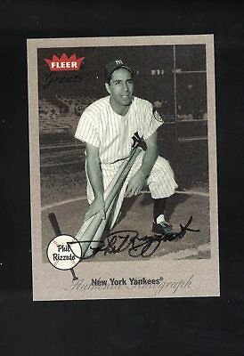 2002 Rleer Greats Baseball Phill Rizzuto Autographed card