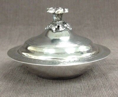Vintage Egyptian .900 Silver Candy Sweets Dish Bowl with Lid