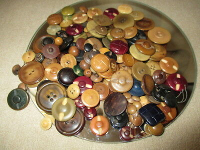 lot 1340- BUTTONS MIXED LOT SIZES SHAPES VEGETABLE IVORY JEWELRY CRAFT FUN 5 oz