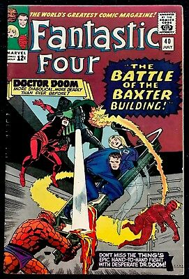 Fantastic Four #40 FN/VF Silver Age! All Listings Start @ 0.99 Cents!