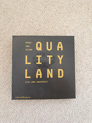Marc-Uwe Kling: Qualityland Hörbuch, 7 CDs - TOP ZUSTAND!