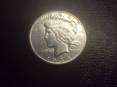 1934-S PEACE DOLLAR, a VERY NICE  COIN must see.. Lot M135