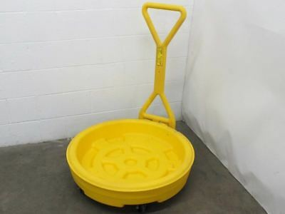 Eagle 1613 55-Gallon Drum Bogie Spill Containment Tray with Castors - Yellow