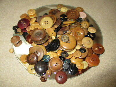 lot 1342- BUTTONS MIXED LOT SIZES SHAPES VEGETABLE IVORY JEWELRY CRAFT FUN 7 oz