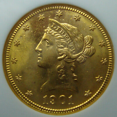 1901-S Liberty Head $10 Gold Eagle - Near Gem - NGC MS-64