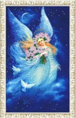 Bead embroidery kit Angel of Dreams Christmas New Year Dove by Golden Fleece