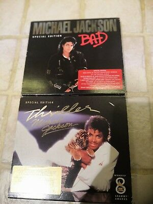 Michael Jackson Bad and Thriller CDs - Special Edition