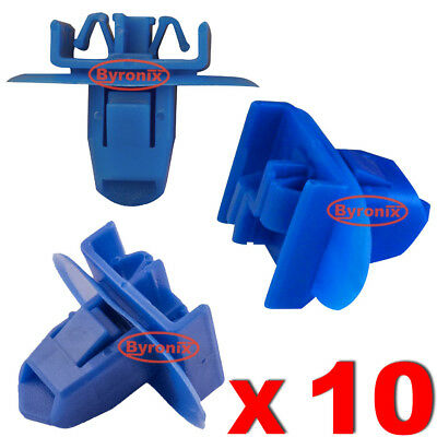 Rear Wheel Arch Flare Cover Trim Moulding Clips For Toyota Rav 4 Blue Plastic 10