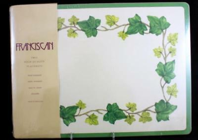 Franciscan IVY II 2 Placemats A+ CONDITION UNUSED