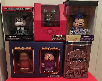 Disney Vinylmation - Lot of 7 Figures - New Sealed Boxes / Tin Variant Autograph