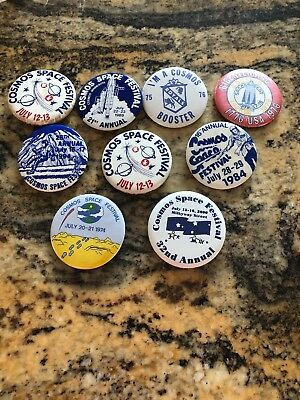 Lot Of 9 Cosmos Space Festival Pins Cosmos Minnesota