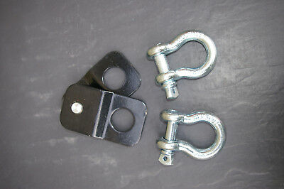 Winch Snatch Block 4 Ton 4x4 Pulley Off Road Recovery Plus A Pair Of Shackles