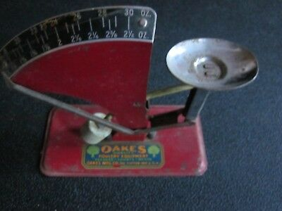 Vintage Metal OAKS Poultry Equipment Egg Scale