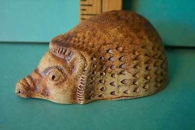 English Hedgehog from Exmoor England Hand Made Pottery Original Signed by Artist