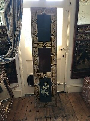 Original painted and gilded cupboard panel/door Edwardian Art Nouveau